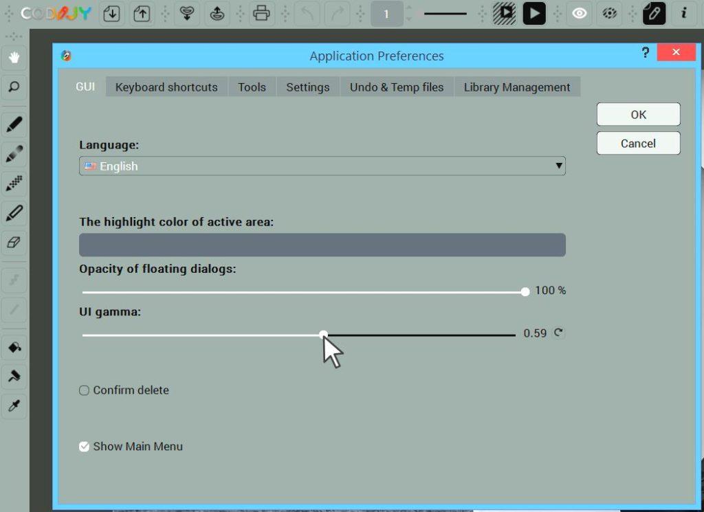 Adjust Interface Brightness