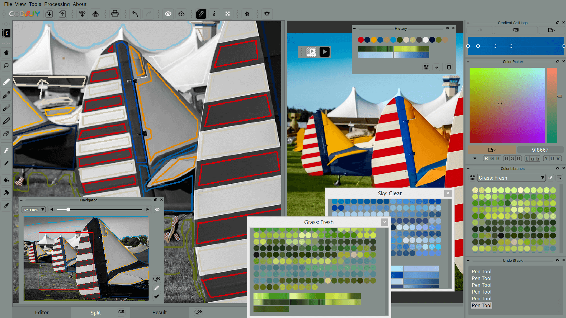 CODIJY workspace with dock windows