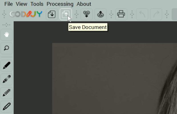 Save document toolbar command