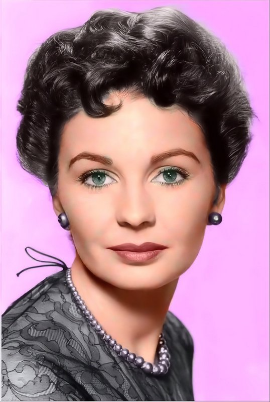 Actress Jean Simmons. Colorized by Bernie Watts